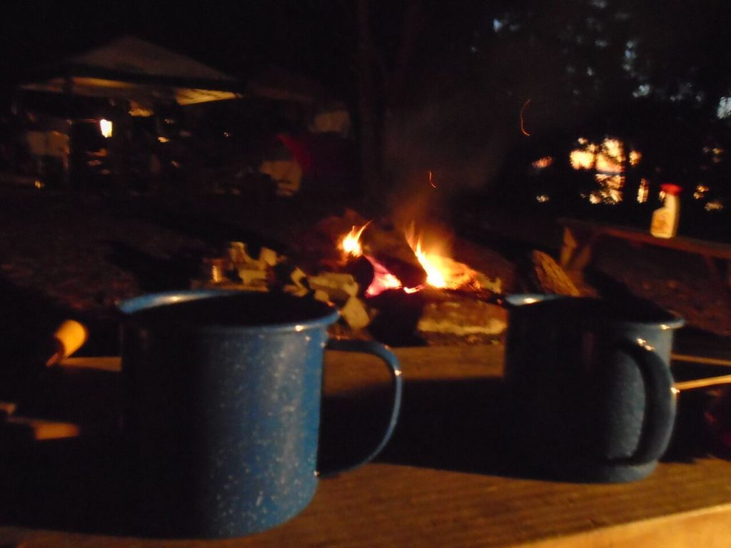 Coffee and a campfire
